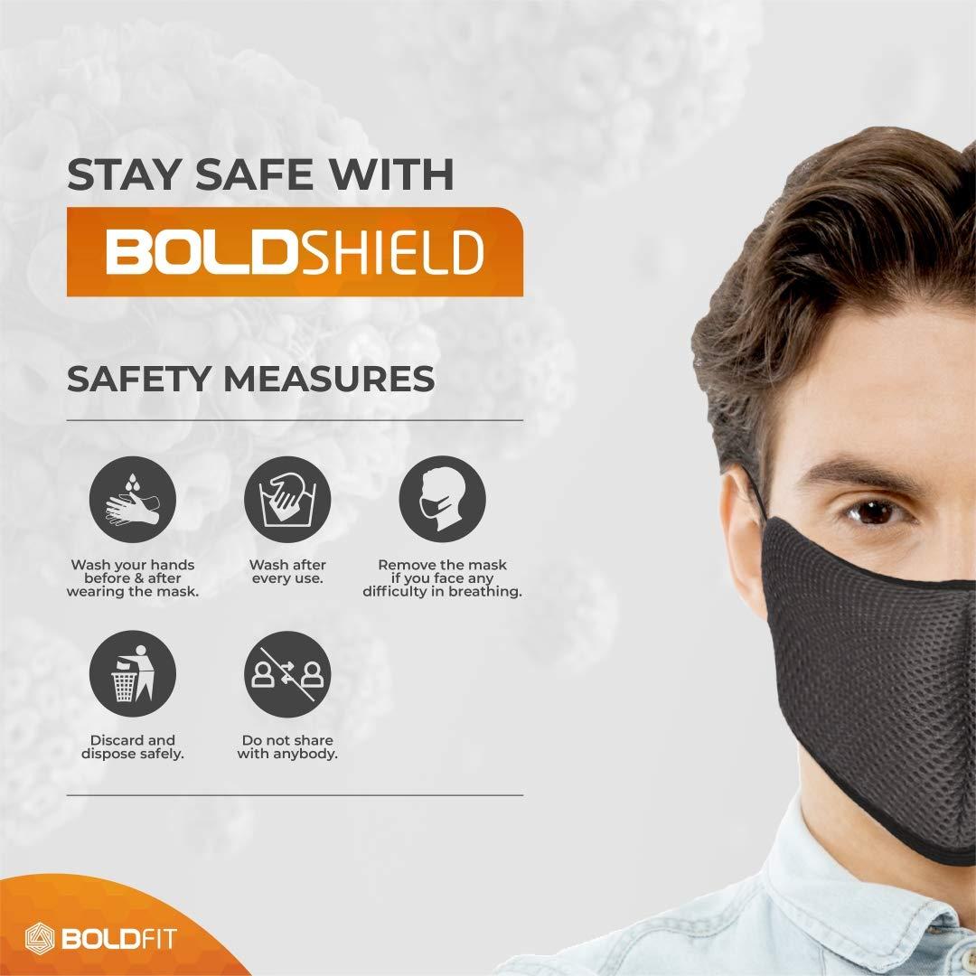 Top 5 premium international standard face masks Boldfit Reusable Face Mask 3
