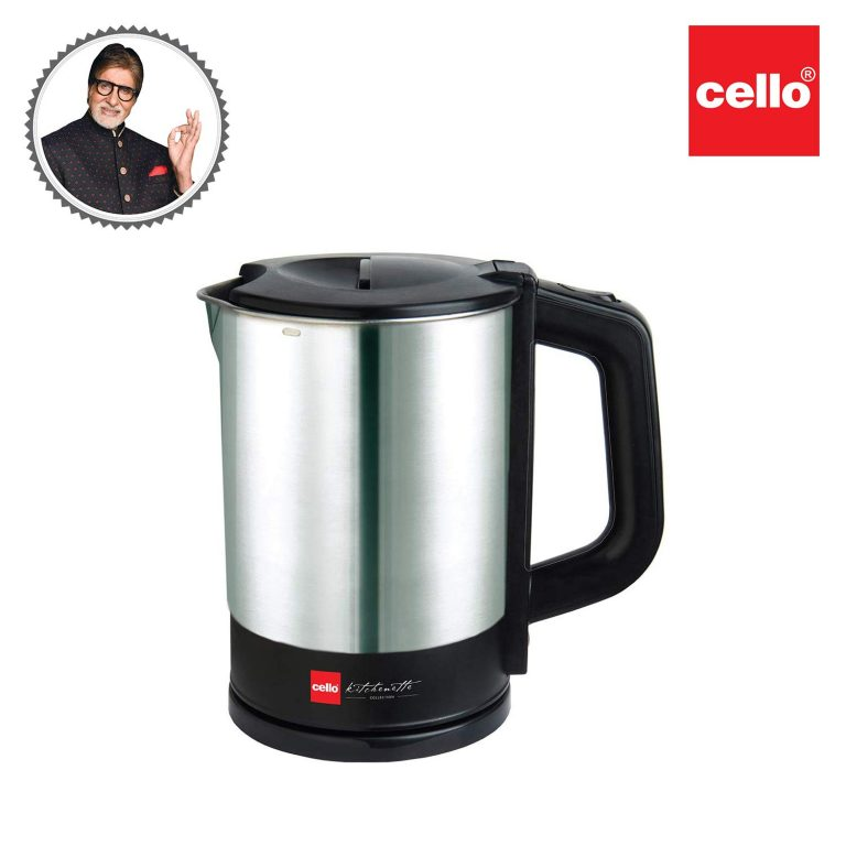 Cello Electric Kettle 1 Ltr 900 with1200W