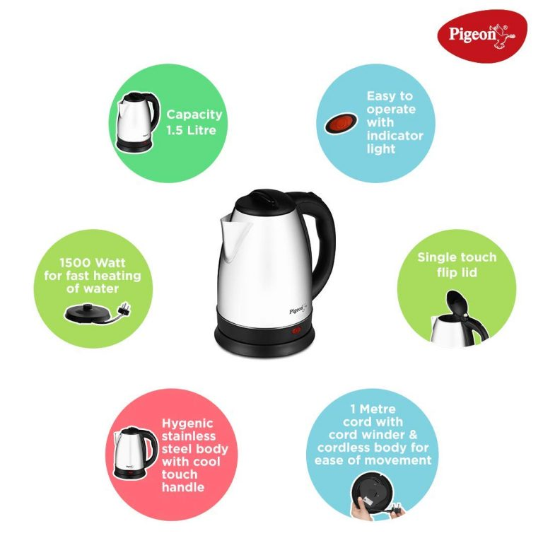 Pigeon 1.5 Litre Electric kettle